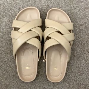 Zara chunky quilted leather sandals